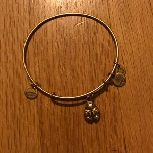 Alex and Ani ladybug gold bracelet